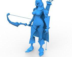 3D print model Armoerd archer woman