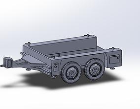 3D printable model M17 trailer