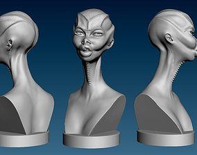 Alien Girl Head for 3D Print