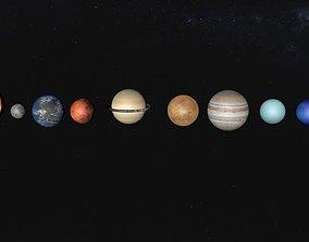 Solar System 3D model solar