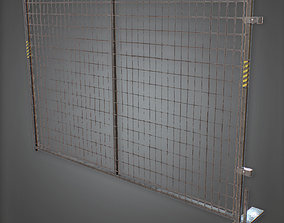 3D model CON - Construction Fence - PBR Game Ready