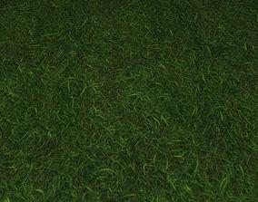 3D model ground grass tile 34