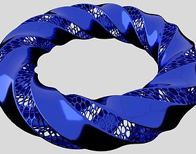 Tripple twisted Torus 3D print model desktop