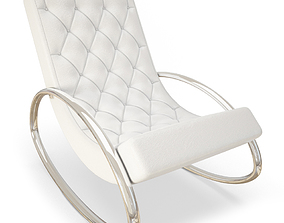 contemporary Modern Rocking Chair 3D model