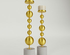 Everly Quinn Metal Candlestick Set 3D model