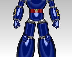 30cm new tetsujin 28 robot model high poly 3d printing
