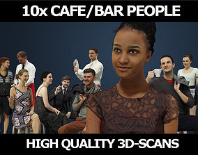 3D model 10x Scanned Gobotree Cafe Restaurant Foreground 2