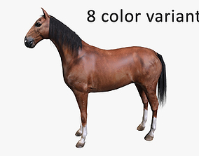 Horse low poly 3D model