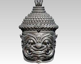 Asian Bust Statue 3D print model