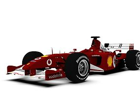Ferrari Formula One Car 2002 3D asset
