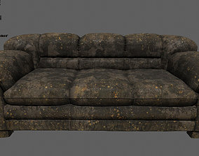 3D model low-poly sofa Armchair