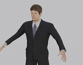 3D asset Business Man riggid Model for Quick Animation 1