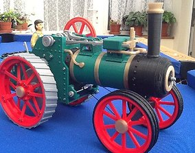 Traction engine train internal 3D printable model 3