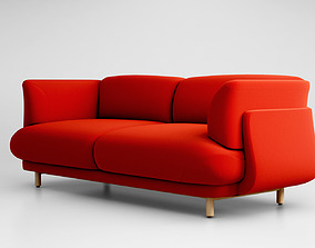 3D model Cappellini Peg sofa