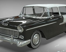 3D model Chevy Belair wagon Nomad 1955