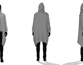3D Long hoodie Sweater
