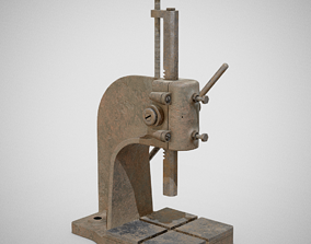 3D model Precision Bench Press - Generic 01 Rusty