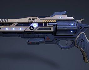 3D model Rail Pistol
