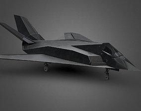 F117 Aircraft 1x1 3D asset