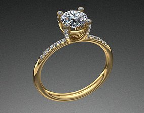 Tiffany Style Diamond Ring printable 3D print model