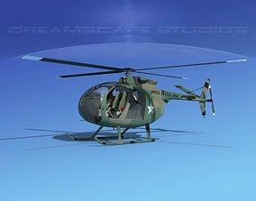 3D Hughes OH-6 Cayuse V03