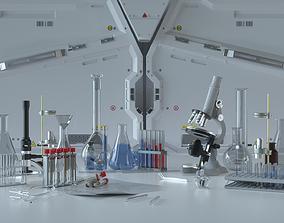 3D Science Fiction Chemistry Laboratory