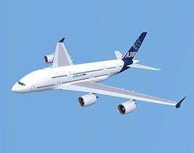 3D model Airbus A380 giant airplane enhanced
