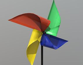 Pinwheel 3D asset