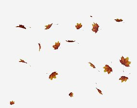 3D model Falling Leaves Animated
