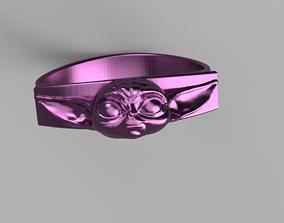 3D print model Baby Yoda Ring