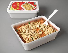 3D model Instant noodle