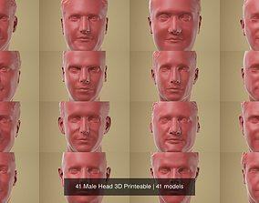 miniatures 41 Male Head 3D Printeable