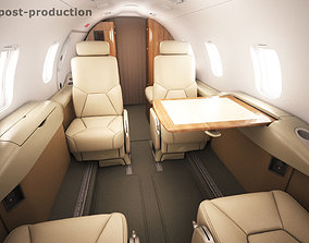 Learjet 31 cabin - interior 3D