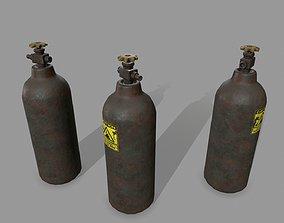 3D asset VR / AR ready Oxygen Tank