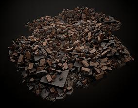 3D asset low-poly Debris Piles 02 Gameready