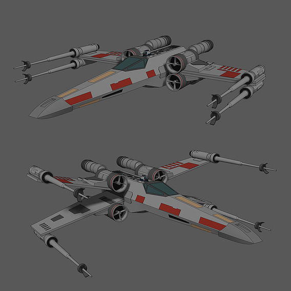 X-Wing - Red 5 - Star Wars - Fan Art