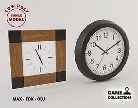 3D asset Clocks 1 Lowpoly
