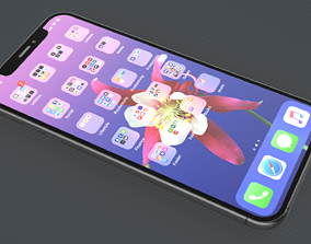 3D model Apple iPhone 11 Max Space Grey