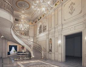 Realistic Reception Hall Classic Design 3d max