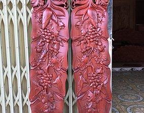 Mural Banana Leaf wood carving file 3D printable model 3