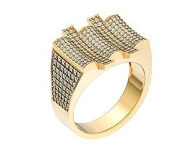 Signet ring 3D print model scattering