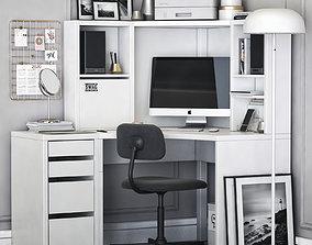 3D model MICKE corner workplace