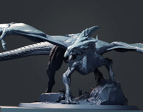 Adult White Dragon 3D printable model