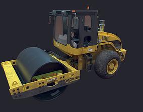 Asphalt Roller LowPoly 3D asset