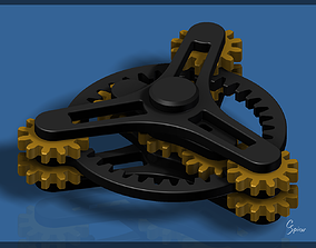 Planetary Gear Fidget Spinner 3D printable model