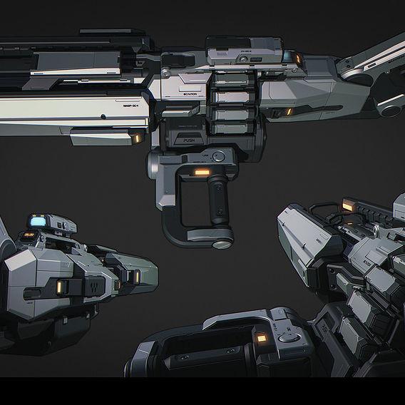 Light Machine Gun (Highpoly)