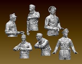 German tank crew Afrika Korps 3D print model