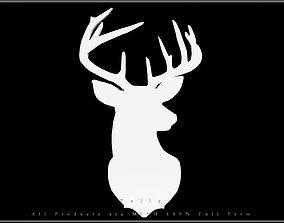 3D asset Reindeer Head
