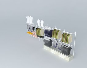 rack rail, with shelves and rts 3D model
