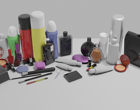 3D model game-ready perfumery no labels